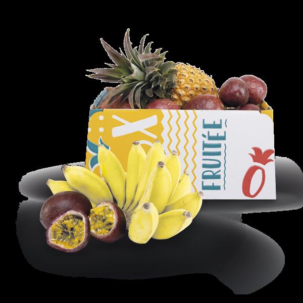 Box ananas, bananes, passion
