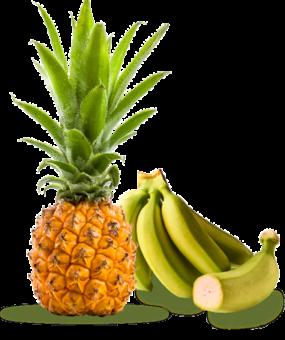 Ananas victoria et bananes