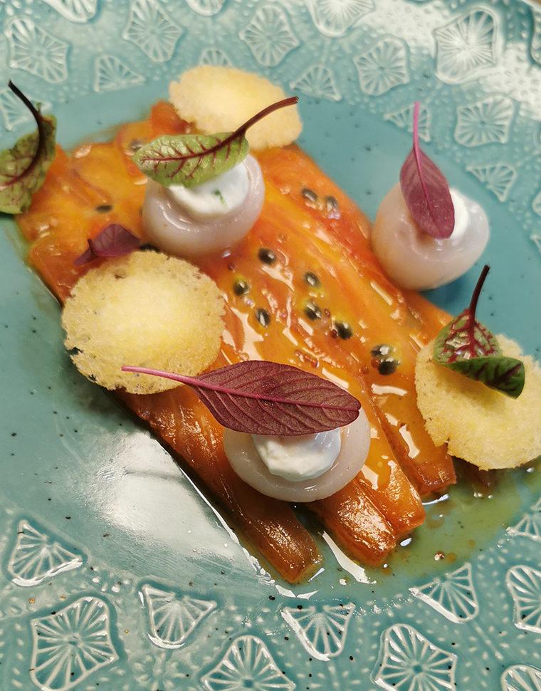 Gravelax de saumon aux fruits de la passion