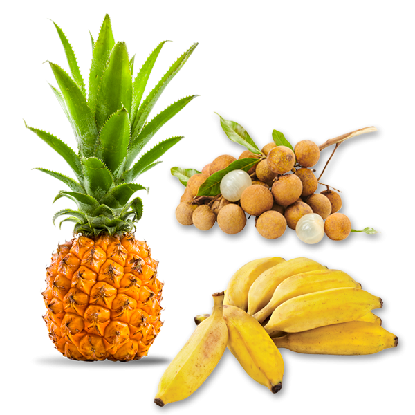 Longanis-banane-ananas